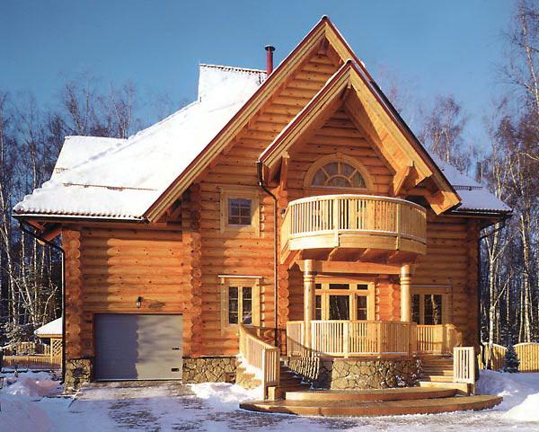 Фото дома фасадные ключ - Дома из бревна под ключ! (купить, продать