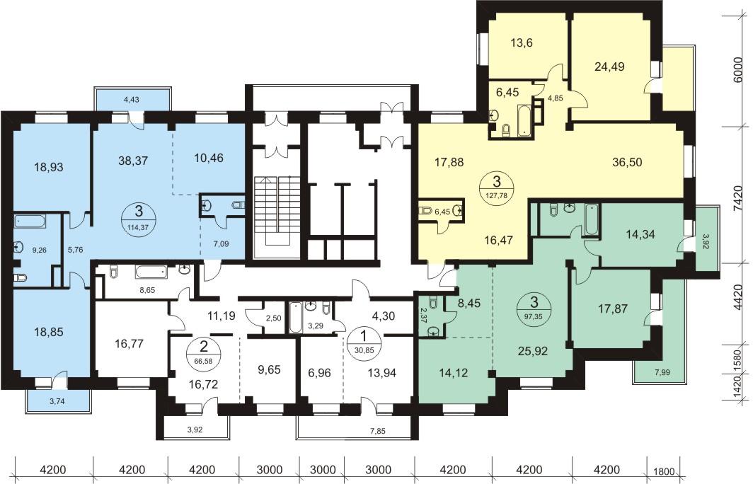 Планировки квартир ООО Риэлт-Стройком предлагает квартиры различной