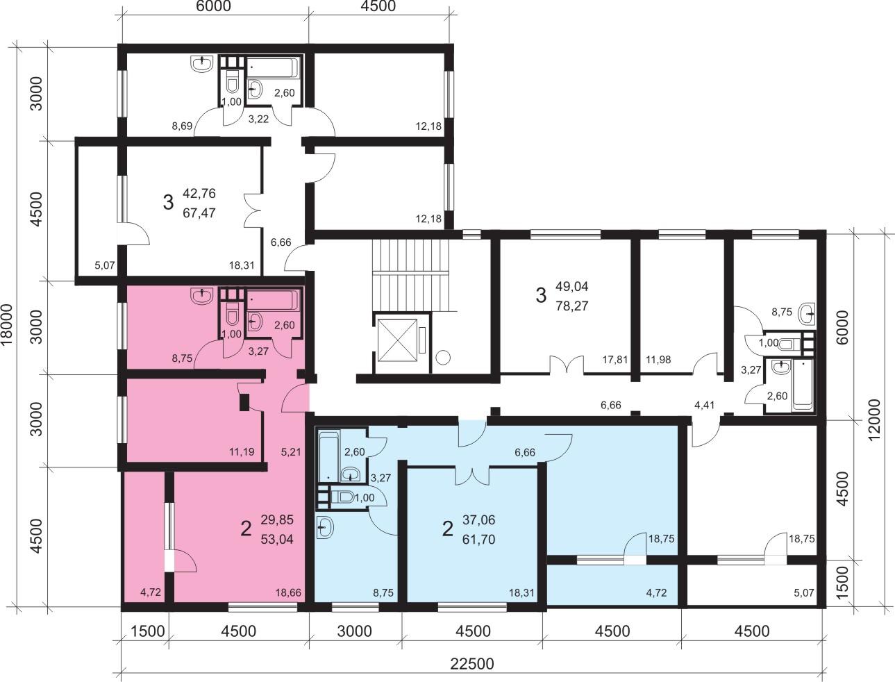ширина входной двери в панельном доме
