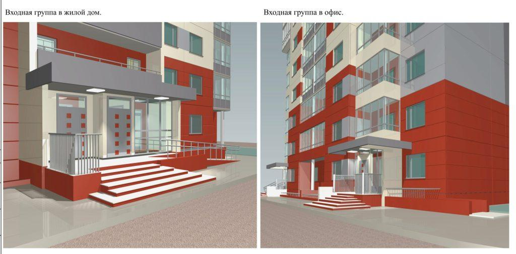 двери входных групп многоквартирных жилых домов